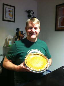 Doug's homemade pumpkin pie!