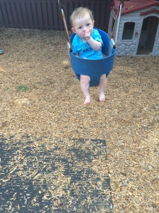 Donovan loves this little swing!