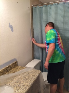 Painting our bathroom.