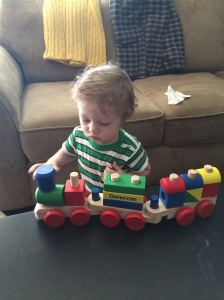 A train from Grandma and Grandpa DeGroot.