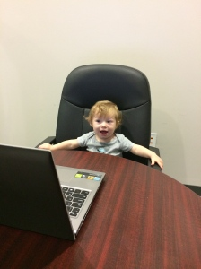 Donovan was very excited to have more time with his Momma!  He even came with us to the office to sign my paperwork with Keller Williams!